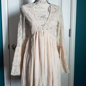 Free People With Love From India Boho Lace Dress
